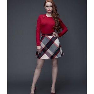 NWOT- Tommy Hilfiger Plaid A-Line Skirt Size: 0
